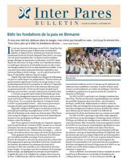 Page couverture du bulletin de Septembre 2012