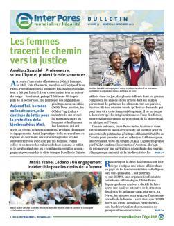 Page couverture du bulletin de novembre 2013