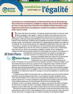 Page couverture du rapport annuel 2013