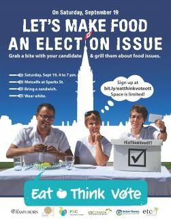Eat Think Vote poster