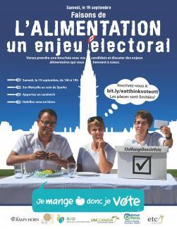 Affiche de l'événement Je mange donc je vote
