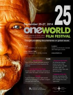 One World Festival Ottawa Poster