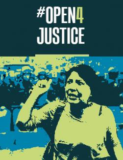 #Open4Justice campaign image