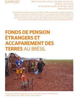 Page couverture rapport accaparement des terres au Brésil