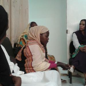 Women waiting to be seen at one of SORD's legal clinics